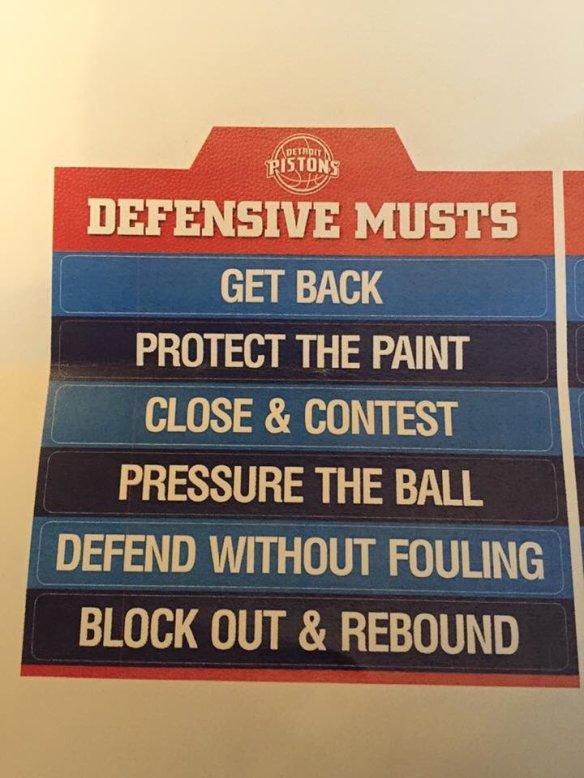 Pistons defense